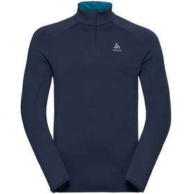 Odlo Carve Warm 1/2 Zip Midlayer Men diving navy